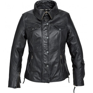 Spirit Motors Damen Klassik Leder Motorradjacke 2.0 schwarz Größe XS