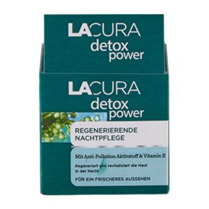 LACURA     detox power Regenerierende Nachtpflege
