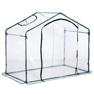 Outsunny Gewächshaus mit Fenster transparent/dunkelgrün