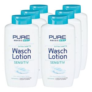 Pure & Basic Waschlotion Sensitiv 500 ml, 6er Pack