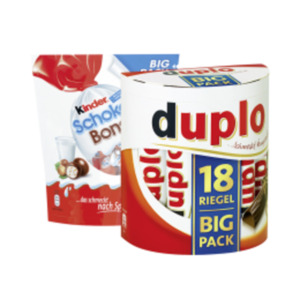 Duplo, Kinder Riegel Big Pack, oder Schoko Bons
