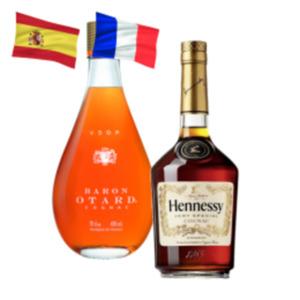 Hennessy Cognac VS, Baron Otard Cognac VSOP oder Cardenal Mendoza