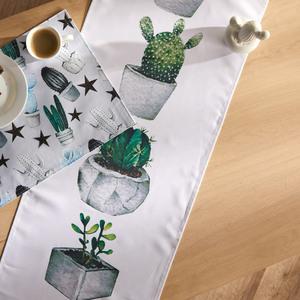 Tischläufer Kaktus (40x150, weiß-grün)