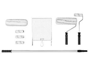 PARKSIDE® Maler-Set, 10-teilig, für Wand- und Fassadenfarben, 2 Farbwalzen, Teleskopstange