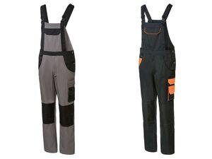 PARKSIDE® Arbeitslatzhose Herren, mit Taschen, verstellbare Schulterträger, mit Baumwolle