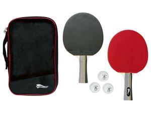 CRIVIT® Tischtennisset, 2 Schläger, 3 Bälle, mit Superspin-G2, Aufbewahrungstasche