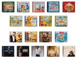 CD, für Kinder und Erwachsene, 18 verschiedene Titel, im Jewel Case