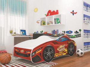 Relita Autobett Kinderbett Spielbett Kinderbett CAR Police 70x140 cm inkl. Lattenrost u. Matratze