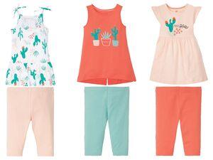 LUPILU® Kleinkinder Mädchen Set, 2-teilig, Longshirt und Capri-Leggings, mit Baumwolle