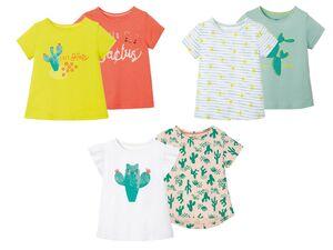LUPILU® Kleinkinder T-Shirts Mädchen, 2 Stück, aus Baumwolle