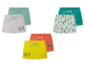 LUPILU® Kleinkinder Sweatshorts Mädchen, 2 Stück, mit elastischem Bund, mit Baumwolle