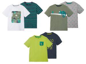 LUPILU® Kleinkinder T-Shirts Jungen, 2 Stück, aus Baumwolle