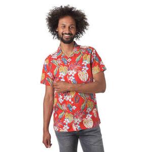 Jack&Jones Originals Freizeithemd, Tropical-Muster, Baumwolle