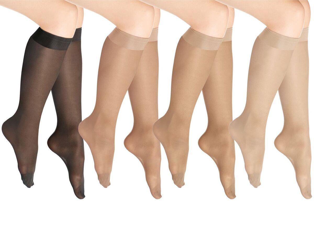 Bild 1 von SENSIPLAST® Feinkniestrümpfe Damen, 40 DEN, 5 Paar, mit Komfortbund und Laufmaschenstopp