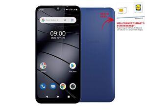 Gigaset Mobiltelefon Smartphone GS110 Azure Blue inkl. Lidl Connect Smart S