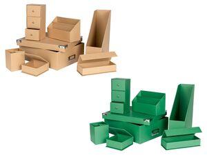 UNITED OFFICE® Ordnungs-Set, fürs Büro und Zuhause, 7-teilig, aus Pappe