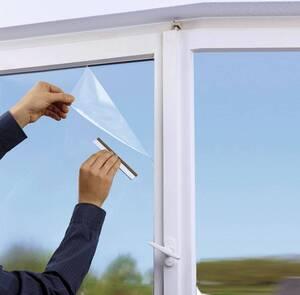 Fenster-Folie, Klima, 58 x 122 cm, Transparent