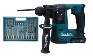 Akku-Bohrhammer 12 Volt HR140DSAE1 + gratis SDS-VPLUS Hammerbohrer-Set 7-teilig Makita