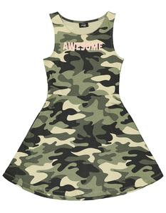 Mädchen Kleid mit Camouflage-Print