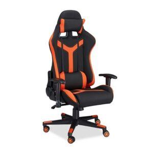 """Kunstleder Bürostuhl """"Pro Gamer"""" orange"""