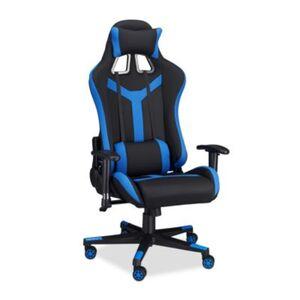 """Kunstleder Bürostuhl """"Pro Gamer"""" blau"""