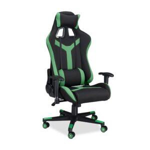 """Kunstleder Bürostuhl """"Pro Gamer"""" grün"""
