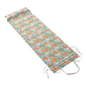 Strandmatte mit gefülltem Kissen, ca. 60x180cm