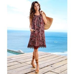 Damen-Kleid mit toller Makramee-Spitze