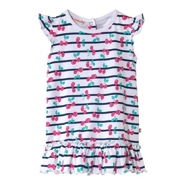 Baby-Mädchen-Kleid mit süßem Kirschmuster