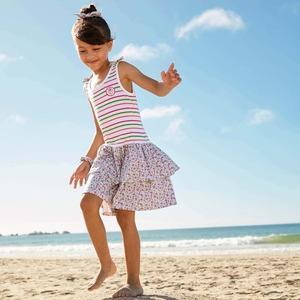 Kinder-Mädchen-Kleid mit luftigem Stufenrock