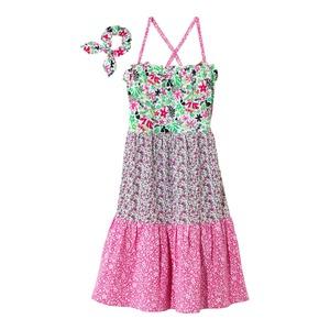 Kinder-Mädchen-Kleid im tollen Blockdesign