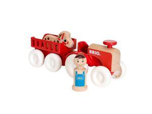 BRIO 30265 »My Home Town Traktor mit Pferde-Anhänger«, 4-teilig, ab 1,5 Jahren
