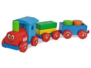 Eichhorn Spielzug, Kinder, 2 Wagons, 7-teilig, ab 1 Jahr, aus Holz