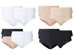 ESMARA® Lasercut-Hipster Damen, 5 Stück, 2x mit eleganter Spitze, mit Elasthan