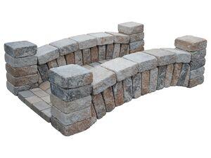 EHL Gartenbrücke, aus Stein, ca. B 200 x H 50 x T 120 cm, Bausatz