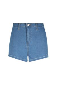 Hellblaue High-Waist Shorts