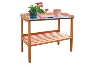 HABAU Gartentisch mit verzinkter Arbeitsplatte, 98 x 95 x 48 cm, Ablagefläche, stabile Konstruktion
