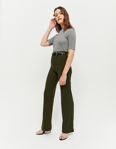 Khaki Flare Leggings