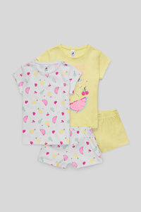 Shorty-Pyjama - Bio-Baumwolle - 2er Pack