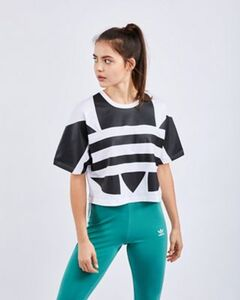 adidas Large Logo Crop - Damen T-Shirts