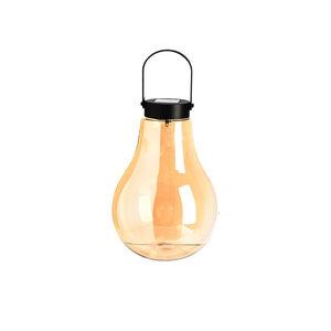 Solar-Lichtobjekt Glühbirne, Outdoor, 1LED, D:14cm x H:20cm, gold