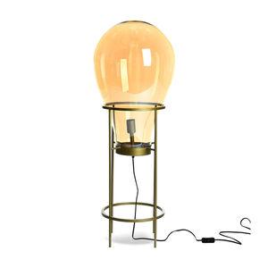 Stehleuchte Glühbirne, D:40cm x H:108cm, gold