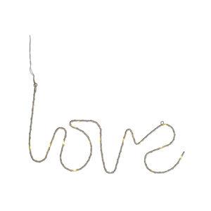 Lichtobjekt Love, B:17cm x L:35cm, champagne
