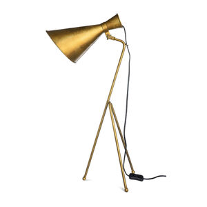Tischleuchte Antik, H:78cm, gold