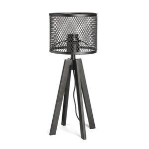 Tischleuchte Metall, 23x42x23cm, schwarz