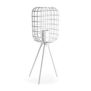 Tischleuchte Metall, D:16cm x H:42cm, weiß