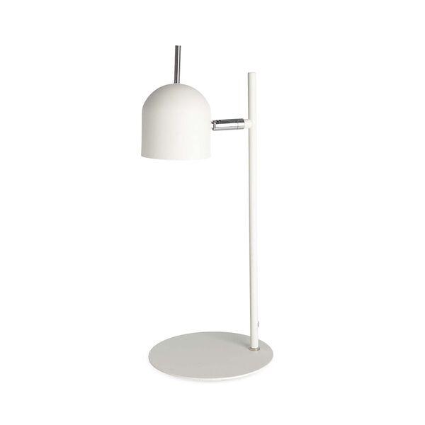 Tischleuchte LED, D:17cm x H:44cm, weiß