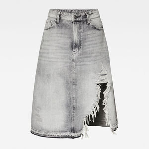 3301 A-line Midi Ripped Edge Rock