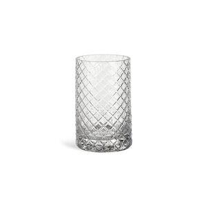 Teelichtglas Raute, D:7,5cm x H:12cm, klar