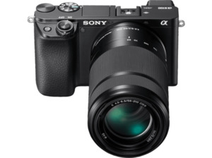 SONY Alpha 6100 Doublezoom Kit (ILCE-6100Y) Systemkamera 24.2 Megapixel mit Objektiv 16-50 mm, 55-210 mm , 7.5 cm Display   Touchscreen, WLAN